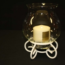2 Piece Large Bowl Candle with Stand