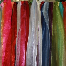 Colored Organza Chair Cover Sashes