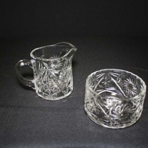 CREAM SUGAR GLASS SET