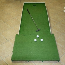 Golf Green with Putter