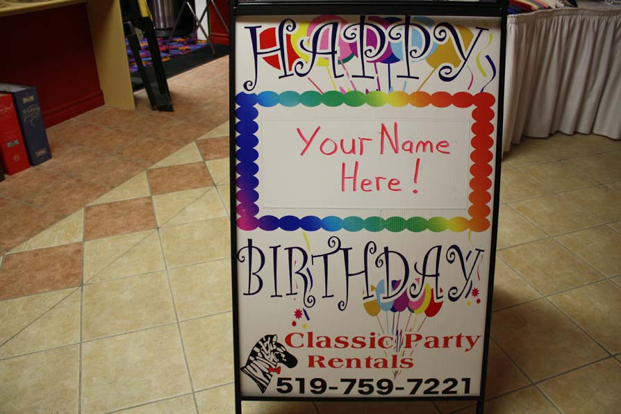 happy birthday sign classic party rentals inc