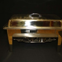 STAINLESS CHAFING DISH WITH FULL OR HALF PANS