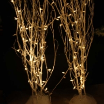 WHITE TREES W MINI LIGHTS