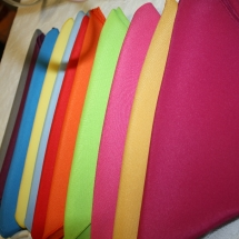 cloth napkins bright colours