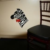 Chivari Chair Mahogany Resin with Black vinyl cushion