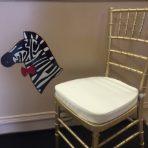 Gold Chivari Chair with Padded Ivory Cushion (2)