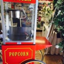 Popcorn Machine on antique cart