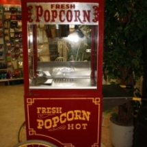 Popcorn Machine with antique style cart