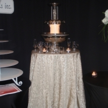 champagne fountain display working